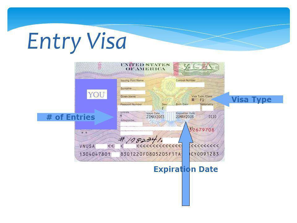 Entry Visa # of Entries Visa Type Expiration Date