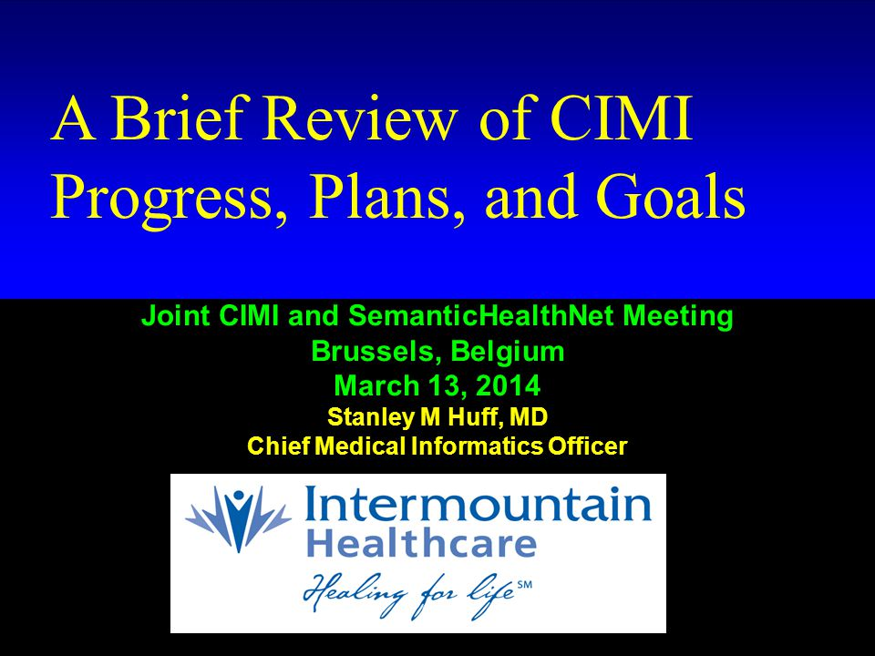 HTTP://WWW.CLINICALELEMENT.COM/CIMI-BROWSER/ First draft CIMI models now available: