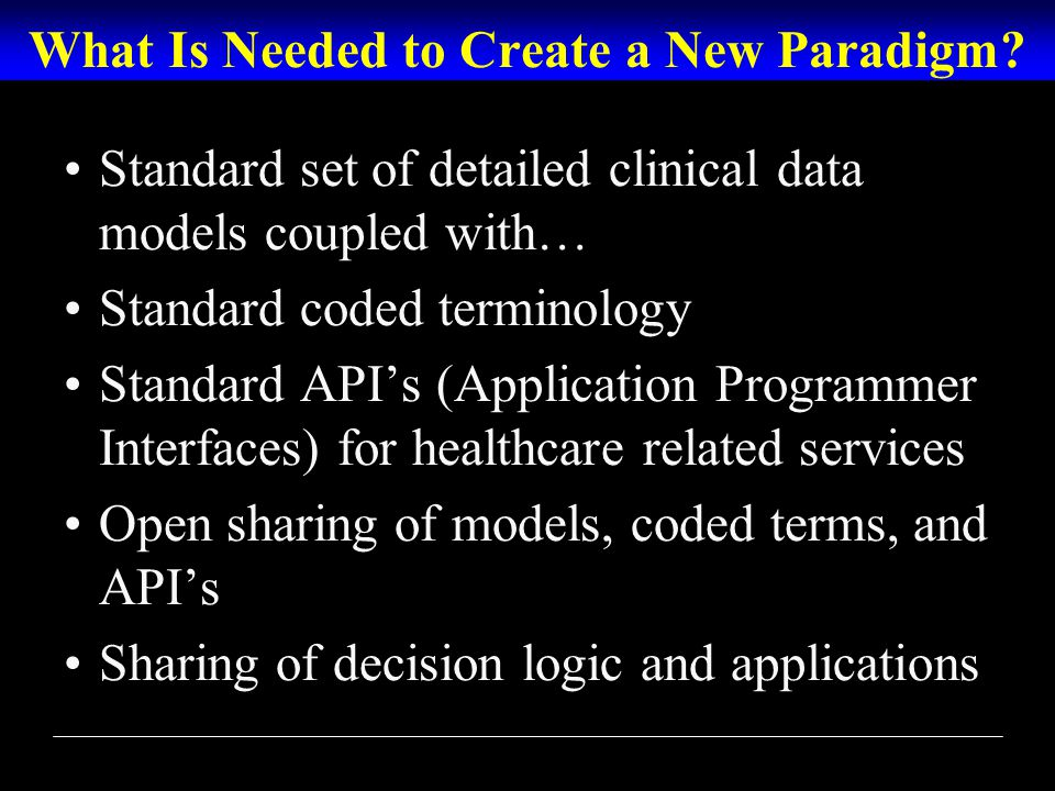 What Is Needed to Create a New Paradigm.