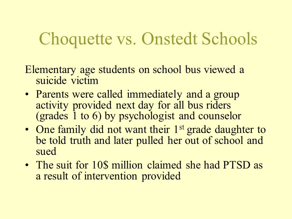 Plaintiff's Criticism of School M should have been placed in alternative school or not allowed to return, should have been evaluated for Special education, there was no wraparound program on return from hospital, school should have insisted on more information from the hospital and clinic School threat assessment in April was inadequate, M should have been searched every morning or escorted everywhere including to the RR or M should have been seen by school counselor every morning,