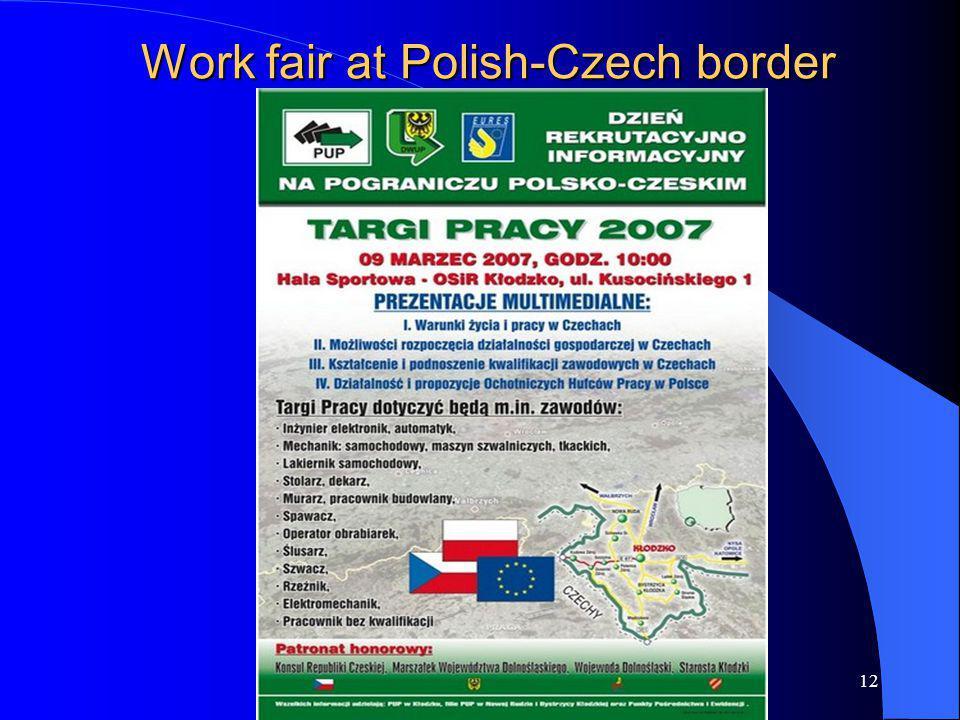 12 Work fair at Polish-Czech border