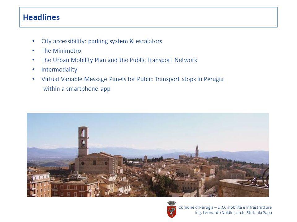 Headlines Comune di Perugia – U.O. mobilità e infrastrutture ing.