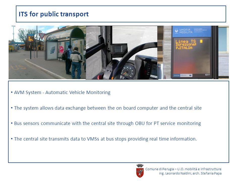 ITS for public transport Comune di Perugia – U.O. mobilità e infrastrutture ing.