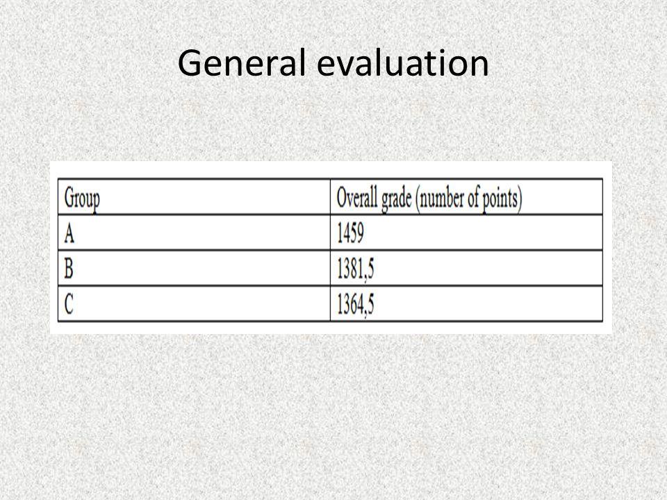 General evaluation