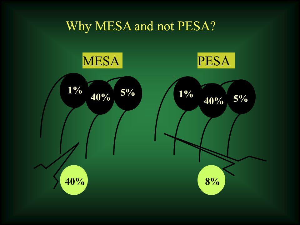 1% 5% 40% 1% 5% 40% MESAPESA 40% 8% Why MESA and not PESA?