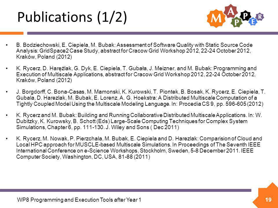 19 Publications (1/2) B. Bodziechowski, E. Ciepiela, M.