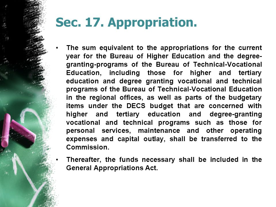Sec.17. Appropriation.