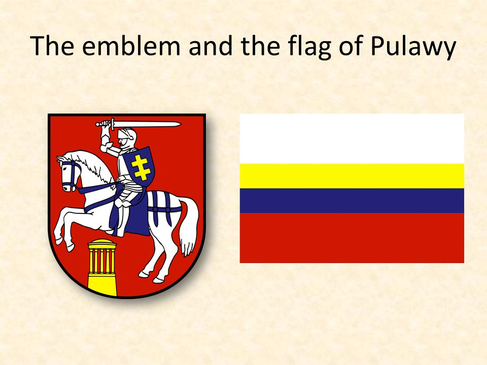 The emblem and the flag of Pulawy