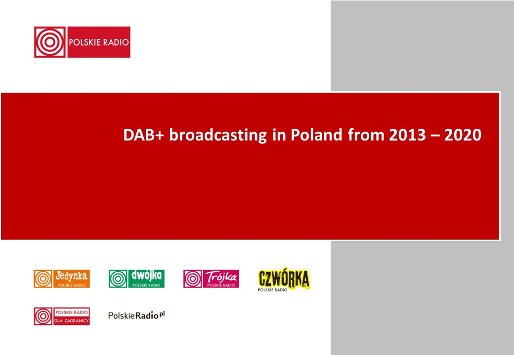 DAB+ broadcasting in Poland from 2013 – 2020