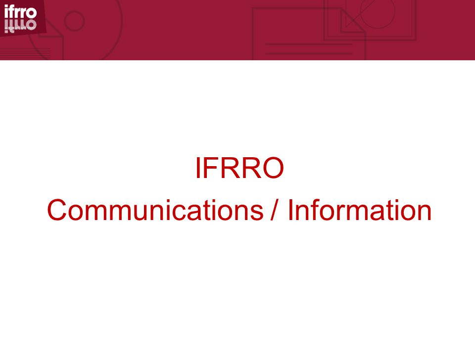 IFRRO Communications / Information