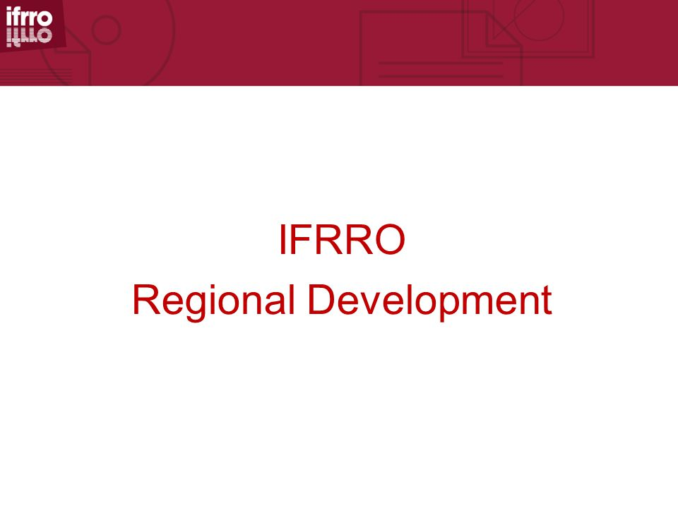 IFRRO Regional Development