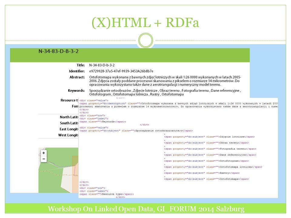 (X)HTML + RDFa Workshop On Linked Open Data, GI_FORUM 2014 Salzburg