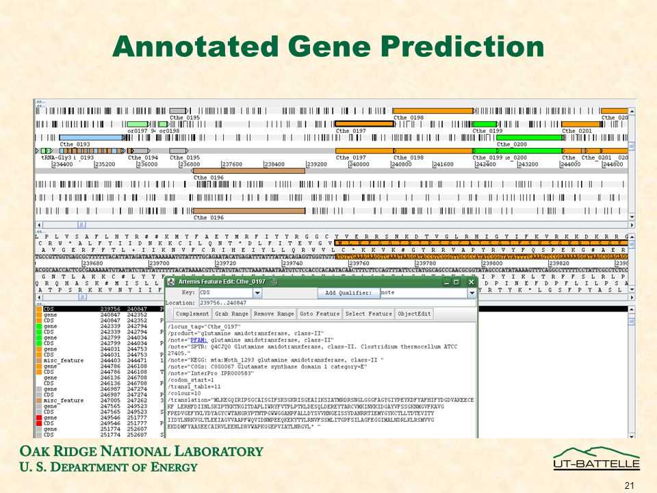 Annotated Gene Prediction 21