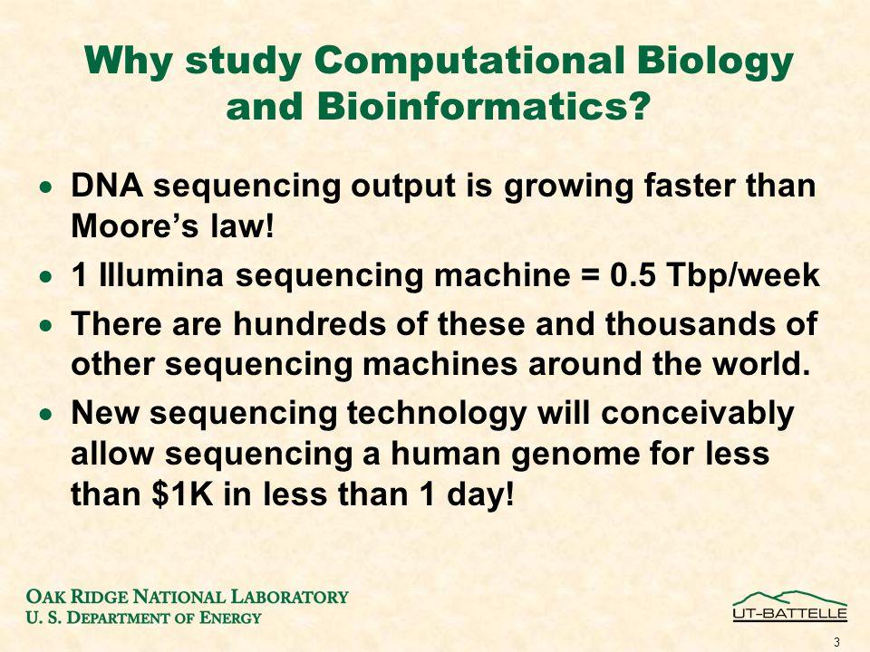 Why study Computational Biology and Bioinformatics.