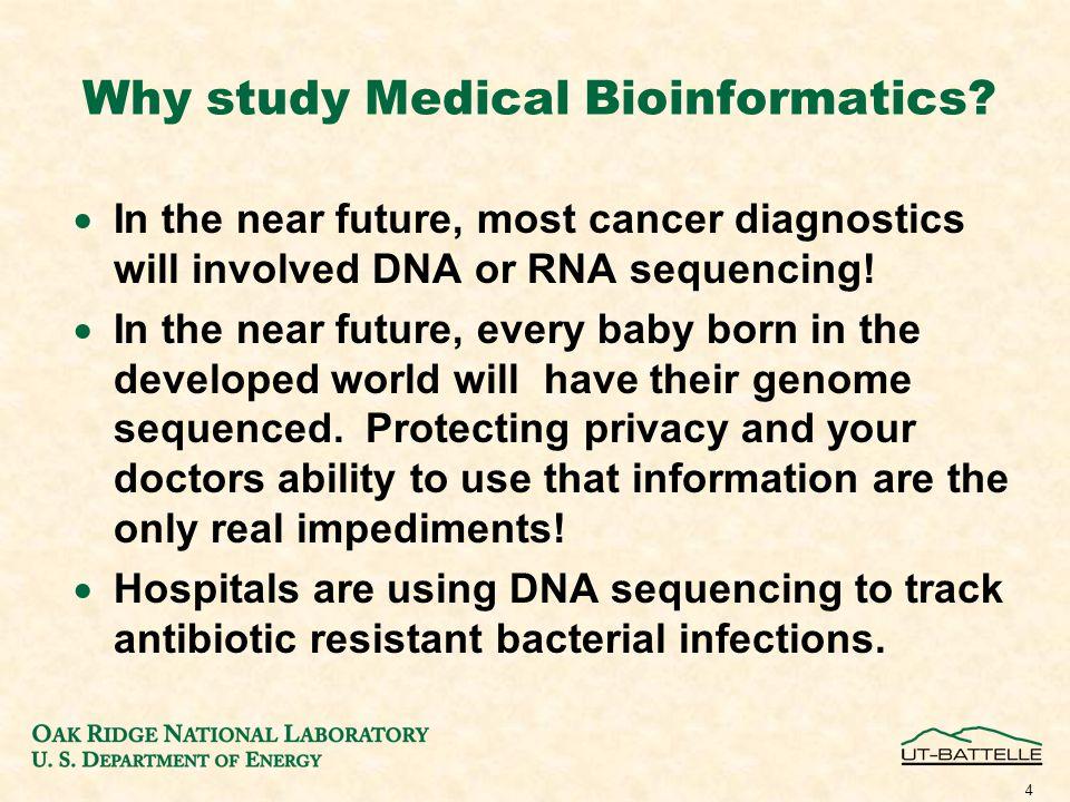 Why study Medical Bioinformatics.