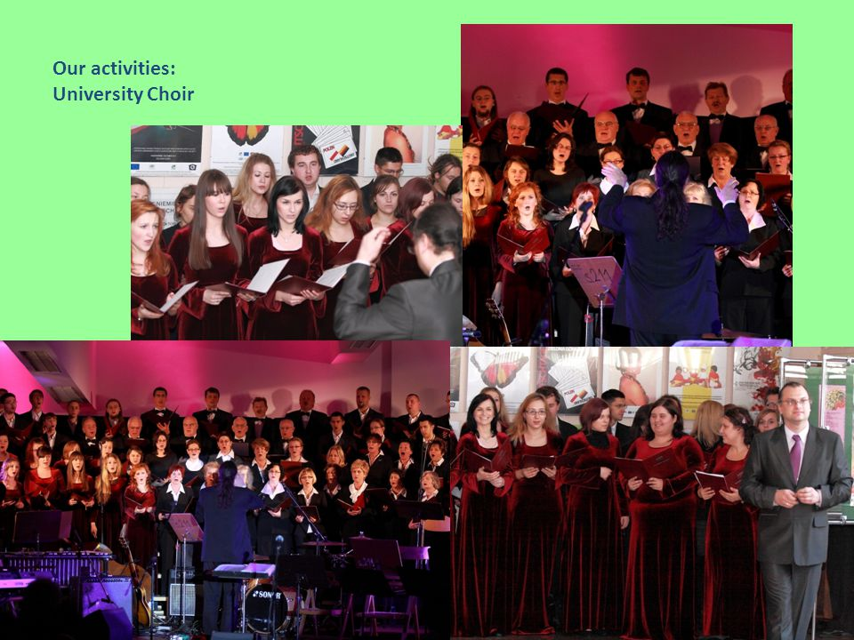 Our activities: University Choir