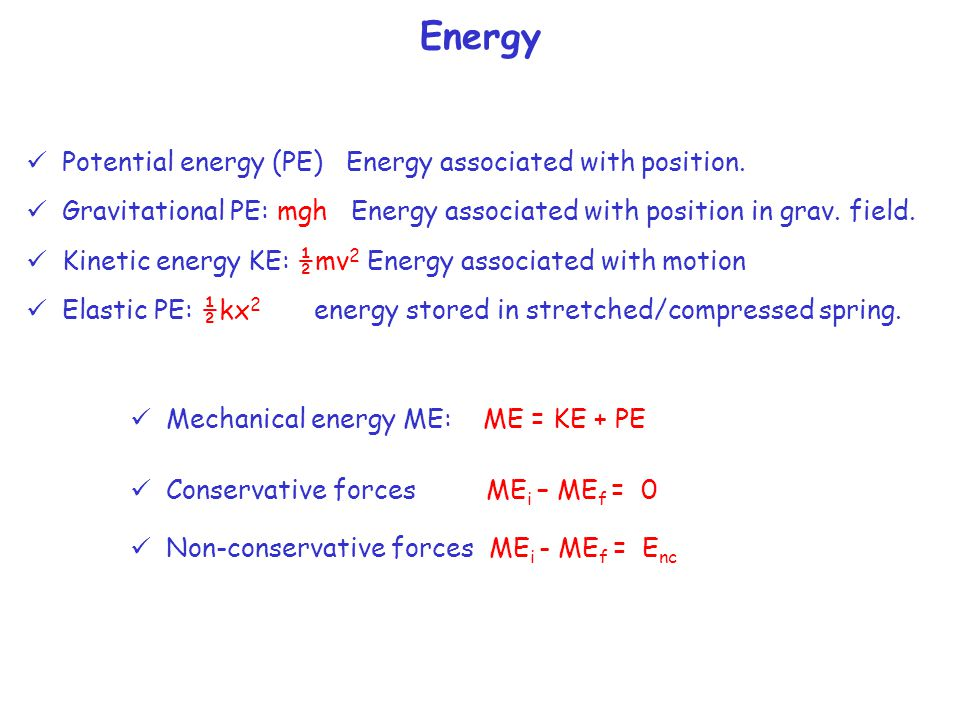 Work (the amount of energy transfer) W=(Fcos  )  x To measure how fast we transfer the energy we define: Power: The rate of energy transfer Power = P = (Work/time) = (W/  t) (J/s=Watt) P = (Fcos  ) ·  x/  t = (Fcos  ) · v average