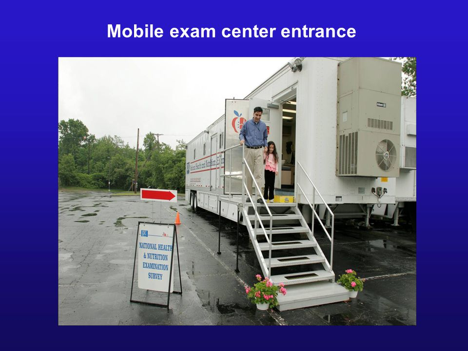 Mobile exam center entrance