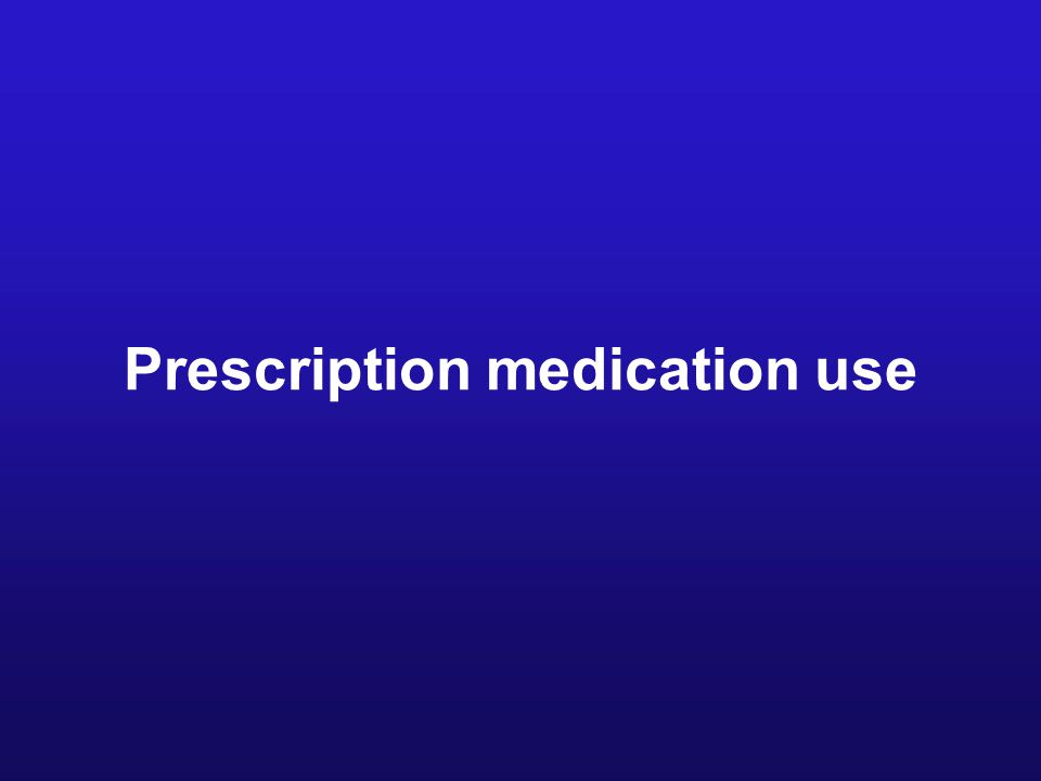 Prescription medication use