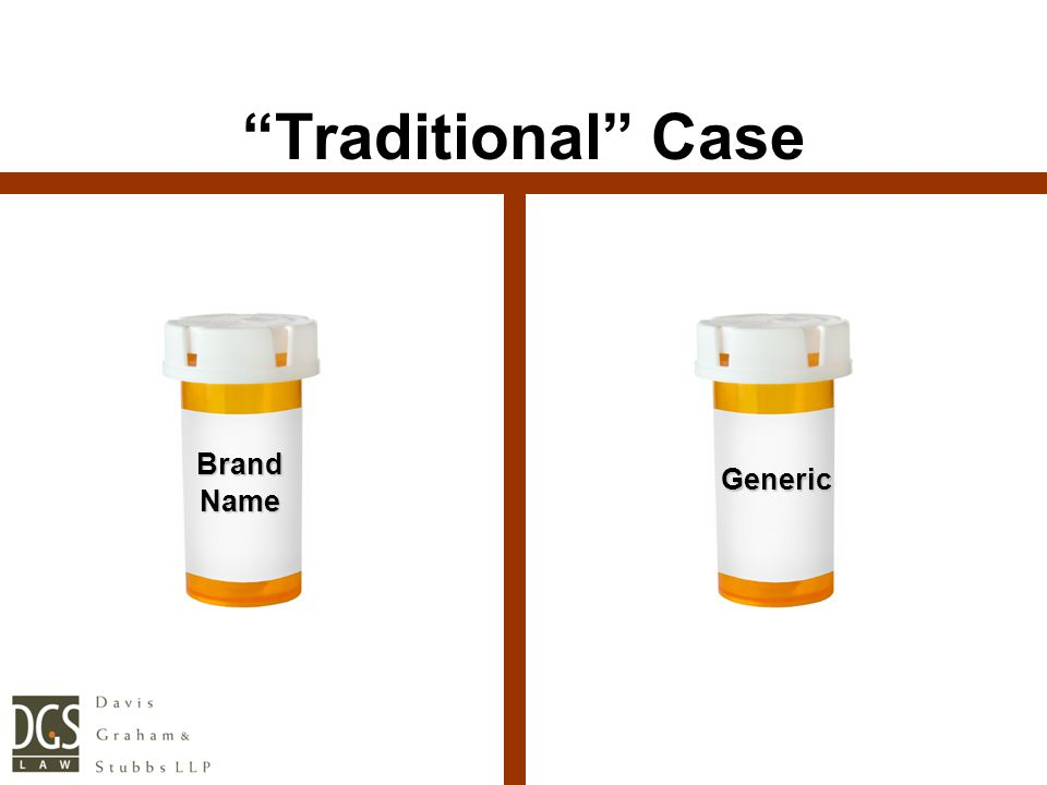 """BrandName """"Traditional"""" Case Generic"""