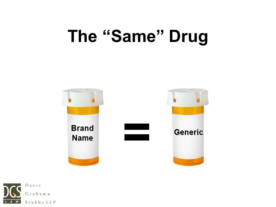 BrandName Generic = The Same Drug