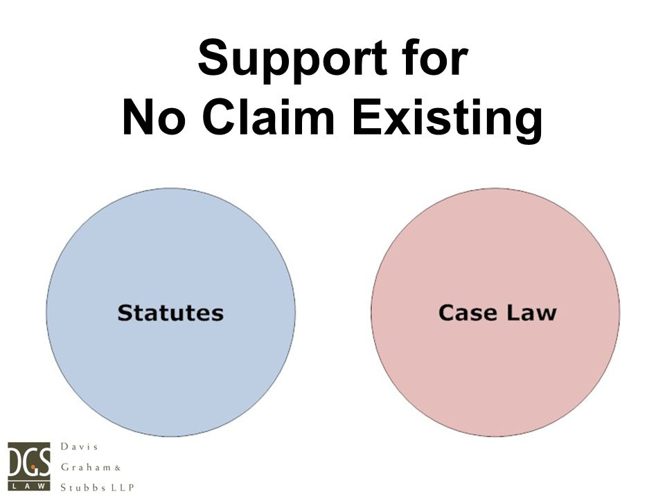 Support for No Claim Existing