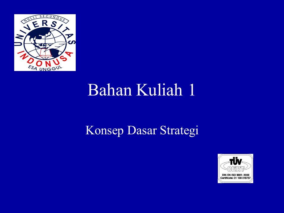 Bahan Kuliah 1 Konsep Dasar Strategi