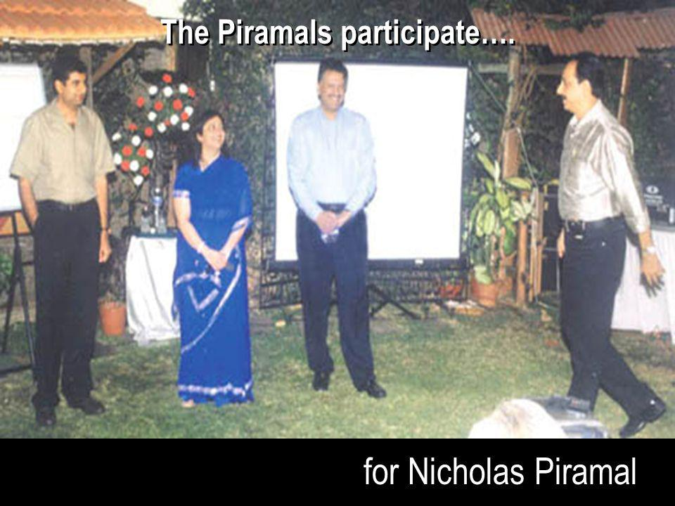 for Nicholas Piramal The Piramals participate….
