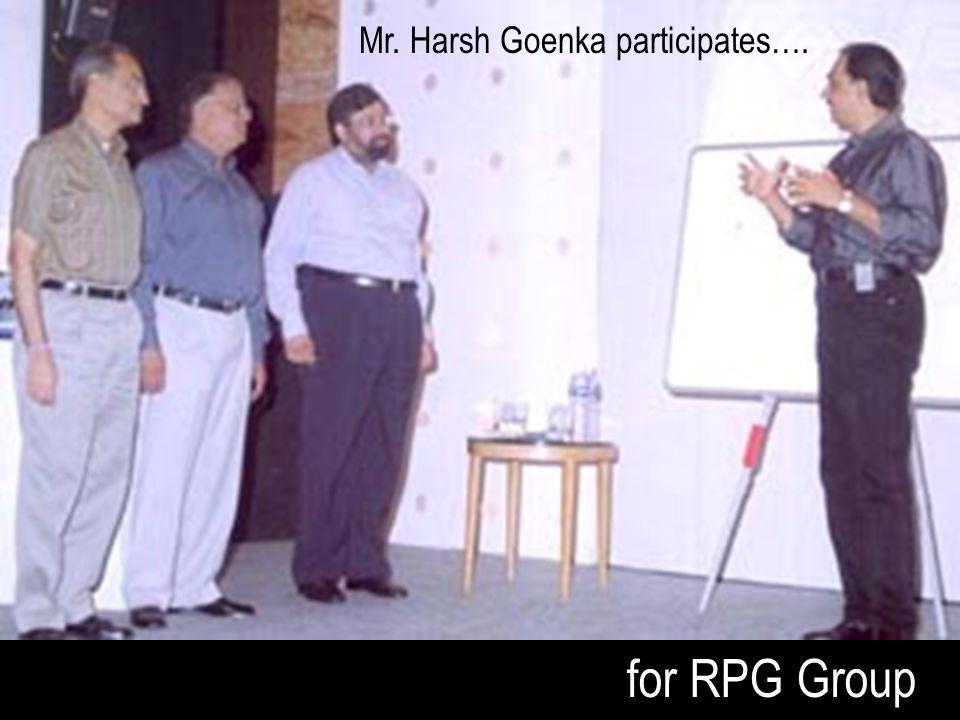 for RPG Group Mr. Harsh Goenka participates….
