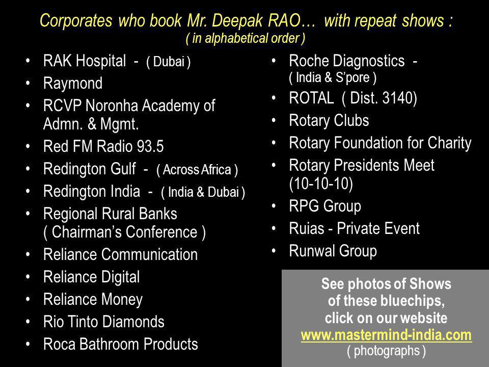 RAK Hospital - ( Dubai ) Raymond RCVP Noronha Academy of Admn.