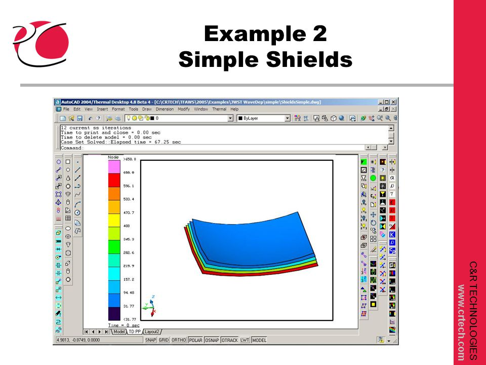 C&R TECHNOLOGIES www.crtech.com Example 2 Simple Shields