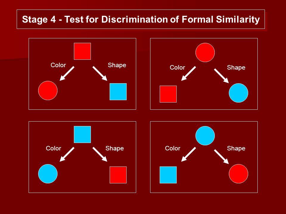 Color Shape Stage 4 - Test for Discrimination of Formal Similarity