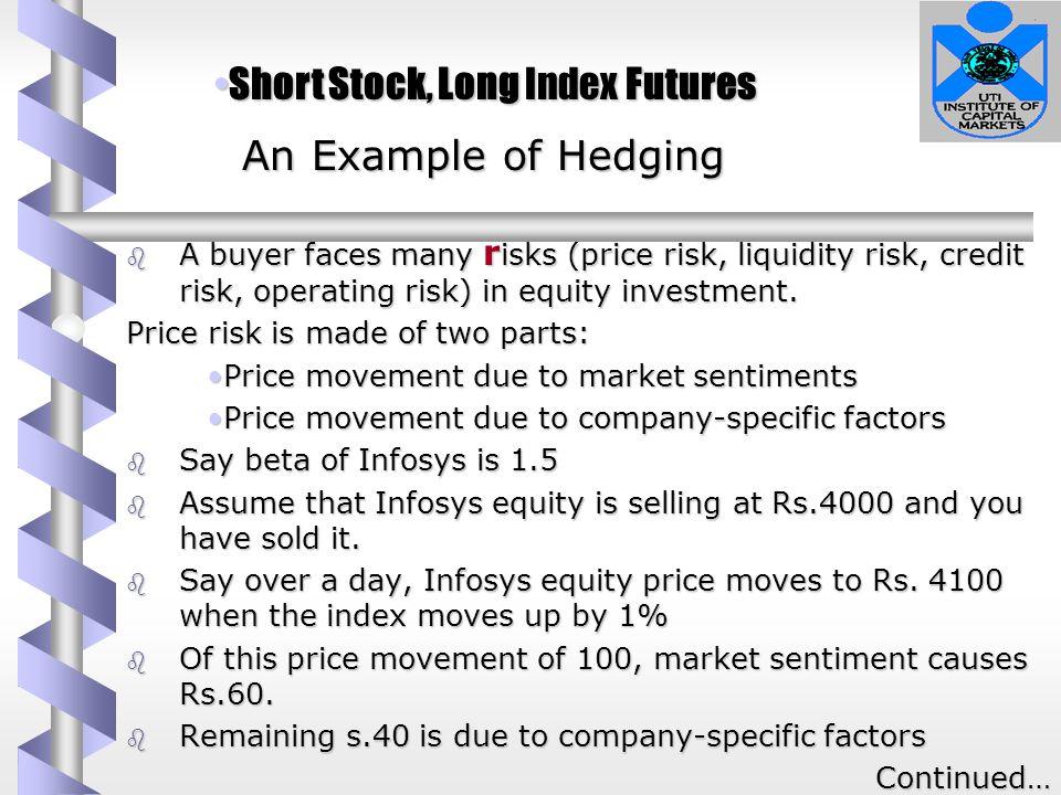 b Stock-picker b Overvalued b Short Infosys Position=Short Index Position b Short Infosys +Short Index-Long Index b IF bearish on market short index only b But bearish on Stock ;short stock and long index.