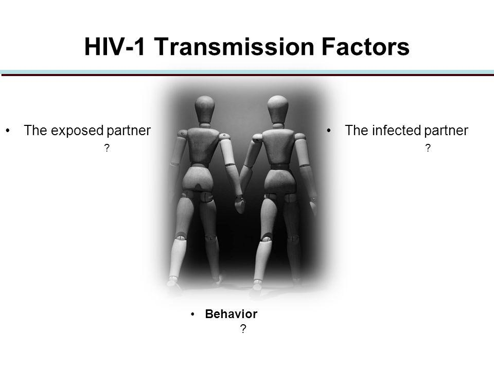 HIV-1 Transmission Factors The exposed partner The infected partner Behavior