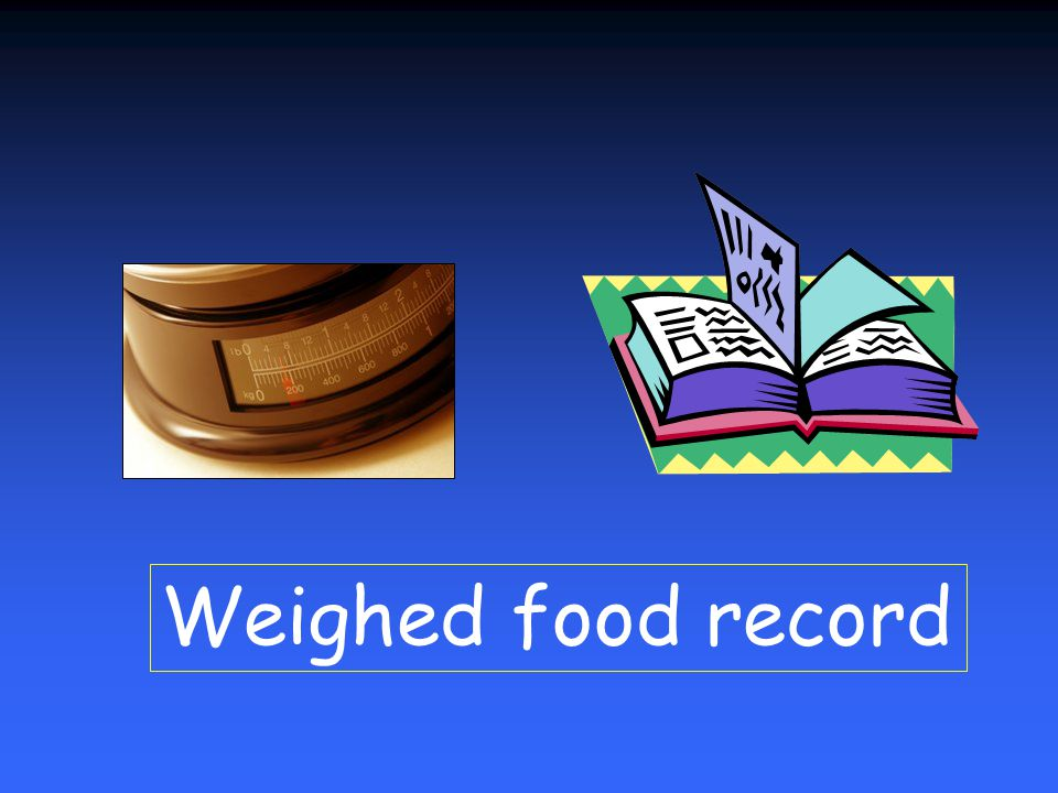 Weighed food record
