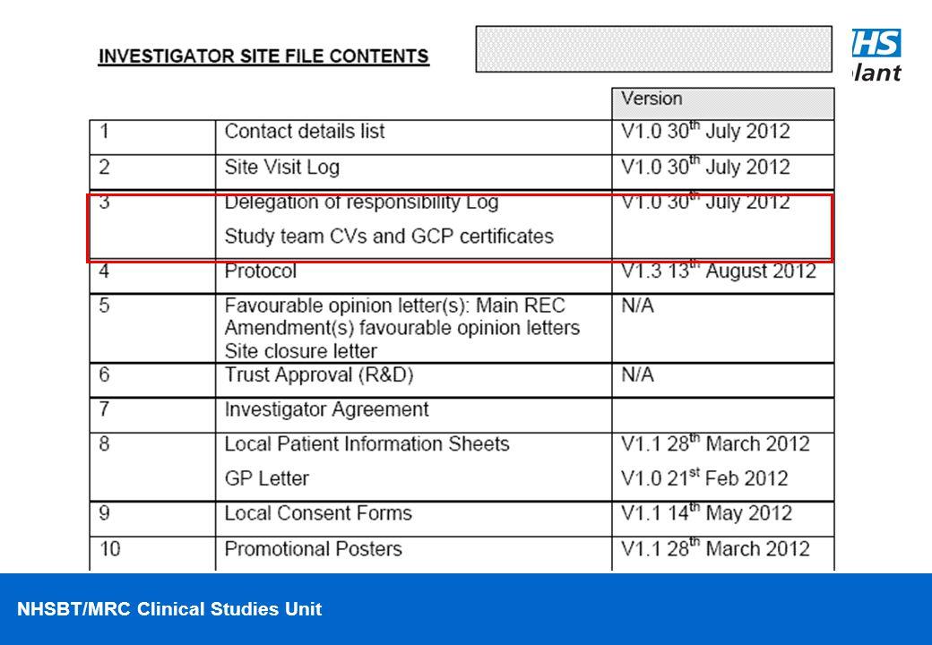 NHSBT/MRC Clinical Studies Unit