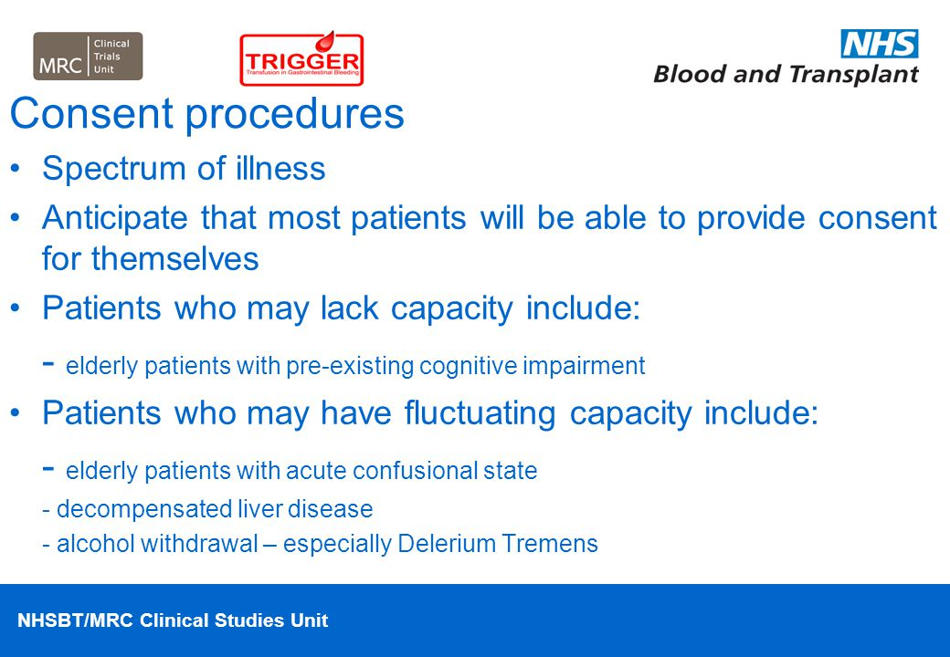 NHSBT/MRC Clinical Studies Unit Case-Study 1 Answer 68 year old female admitted with UGIB and found to have a large ulcer at endoscopy which is treated.
