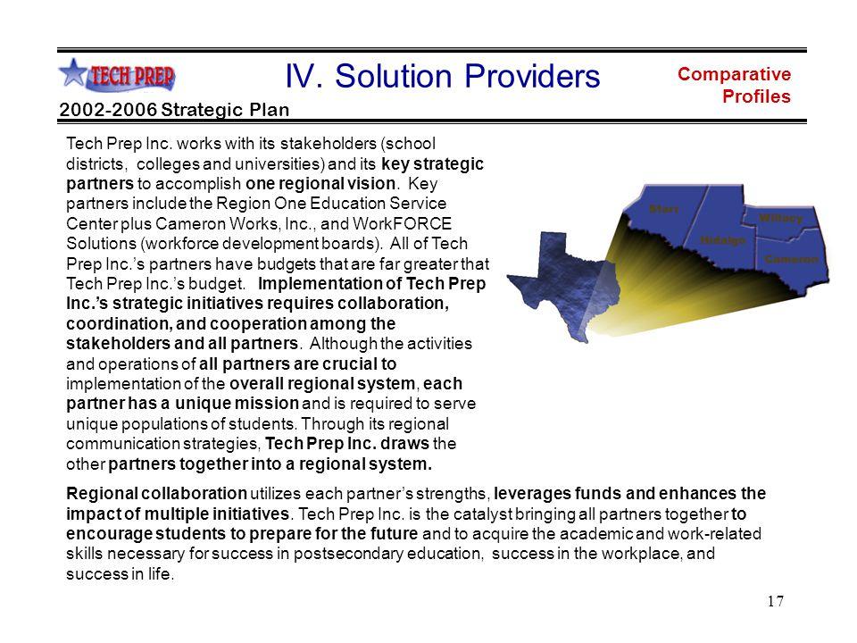 17 2002-2006 Strategic Plan Comparative Profiles IV.
