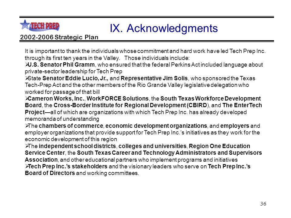 36 2002-2006 Strategic Plan IX.