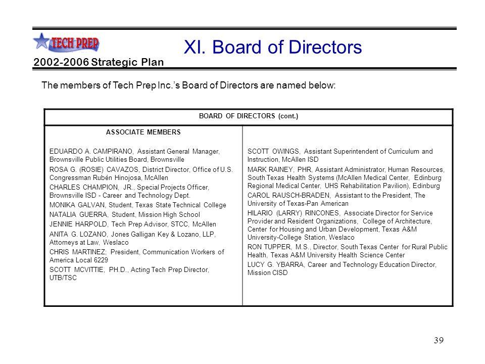 39 2002-2006 Strategic Plan XI.