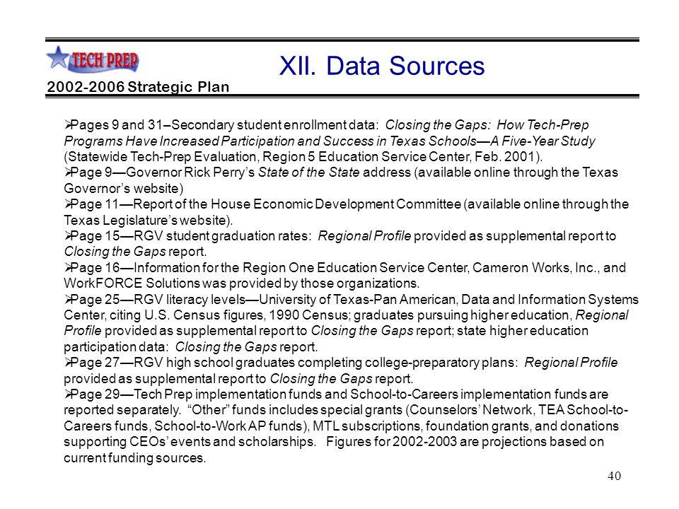 40 2002-2006 Strategic Plan XII.
