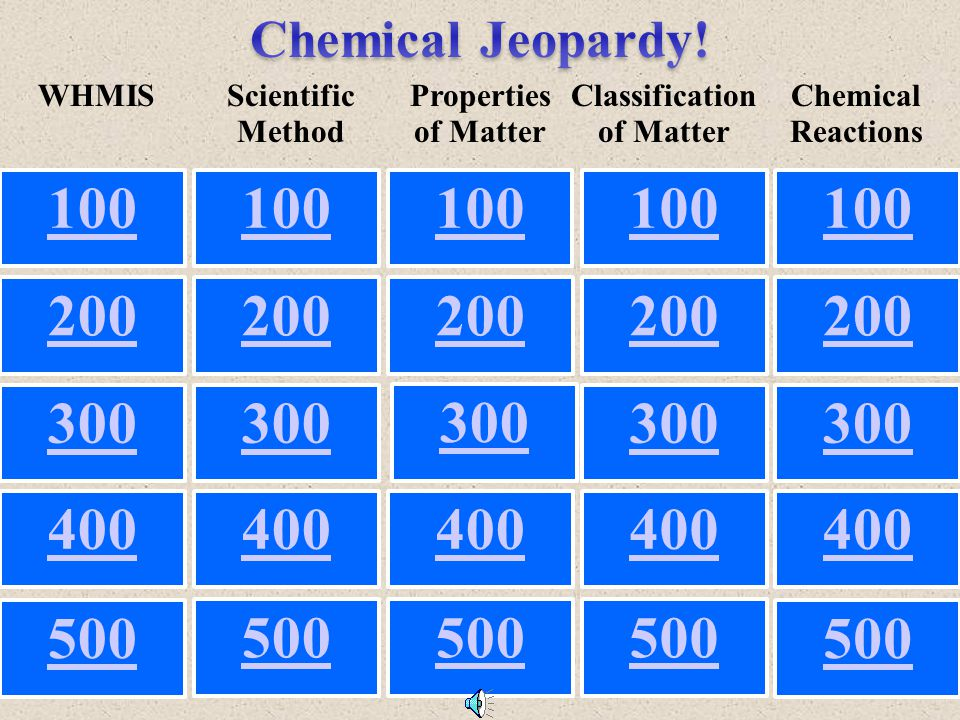 What is…? Properties of Matter for $500 Y es NO This is the ability to stretch a metal into a wire