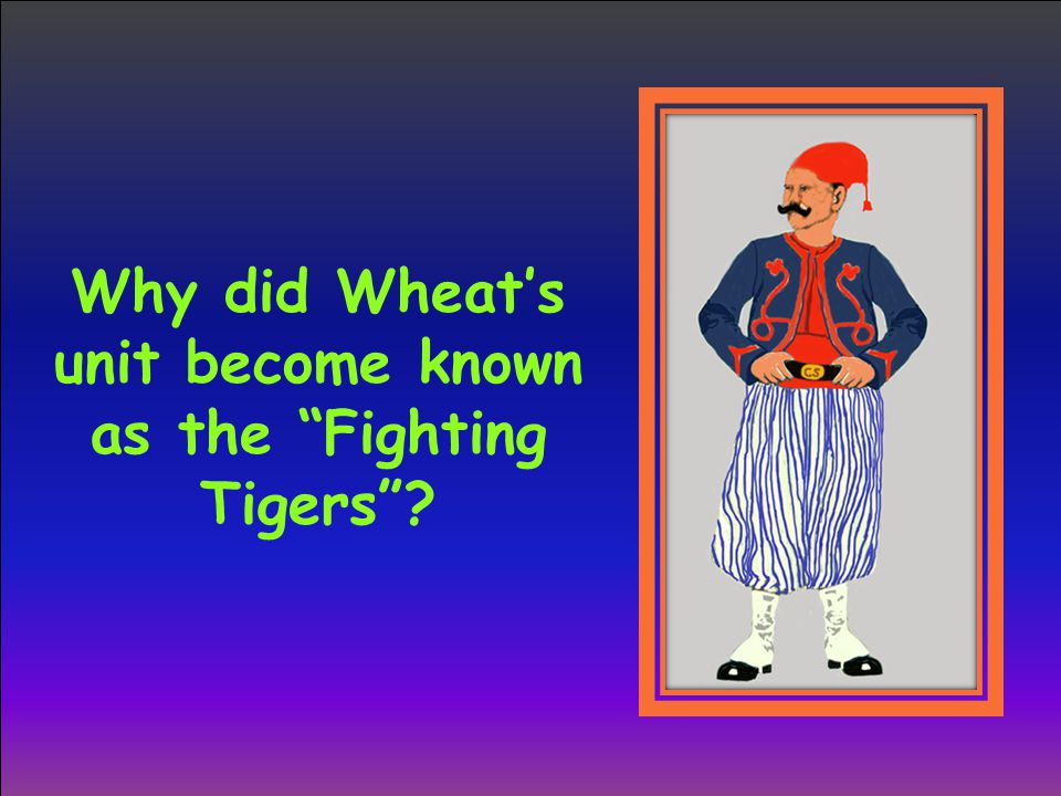"Why did Wheat's unit become known as the ""Fighting Tigers""?"