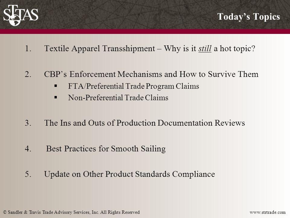 © Sandler & Travis Trade Advisory Services, Inc.All Rights Reserved www.strtrade.com 1.
