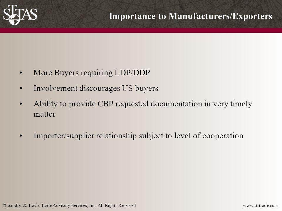 © Sandler & Travis Trade Advisory Services, Inc.All Rights Reserved www.strtrade.com Modular vs.