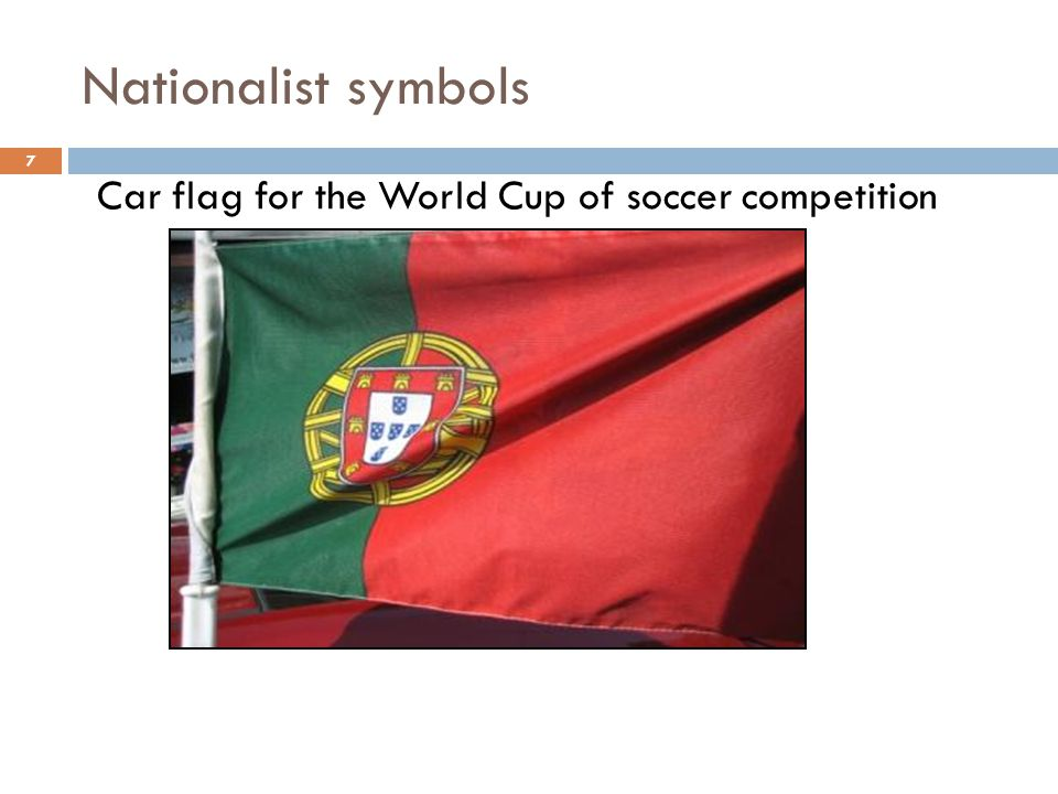 Nationalist symbols Car flag for the World Cup of soccer competition 7