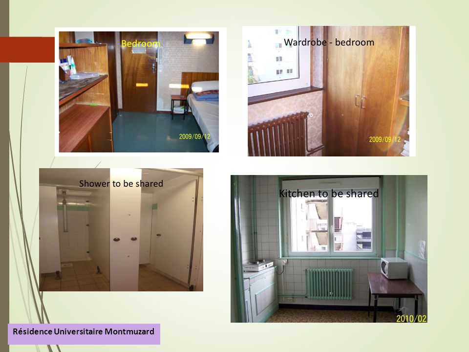 Résidence Universitaire Montmuzard  Students residence Montmuzard is owned by Burgundy s University and is independent from our School.