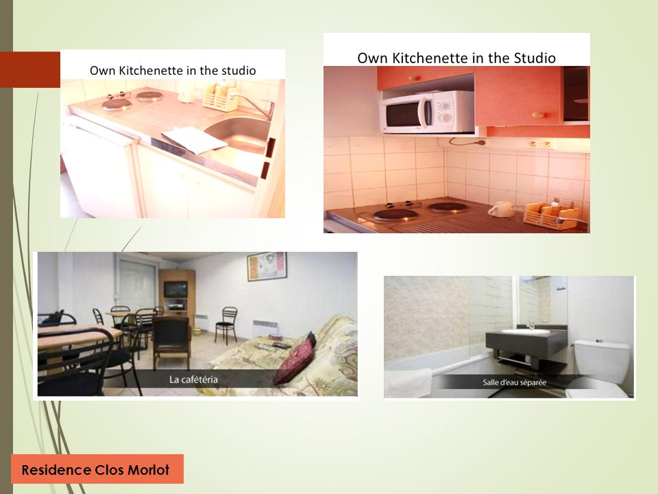 I NDIVIDUAL S TUDIO F LAT IN A R ESIDENCE (O WN BATHROOM, OWN KITCHEN ) Residence Clos Morlot  Modern and fully furnished 20 m2 studios with individu