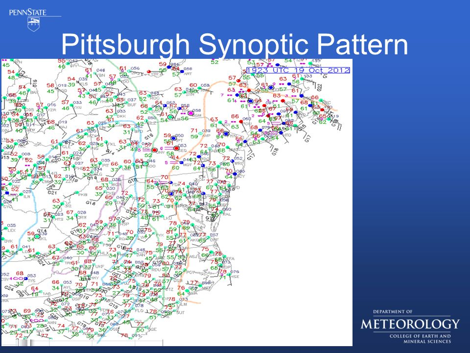 Pittsburgh Synoptic Pattern