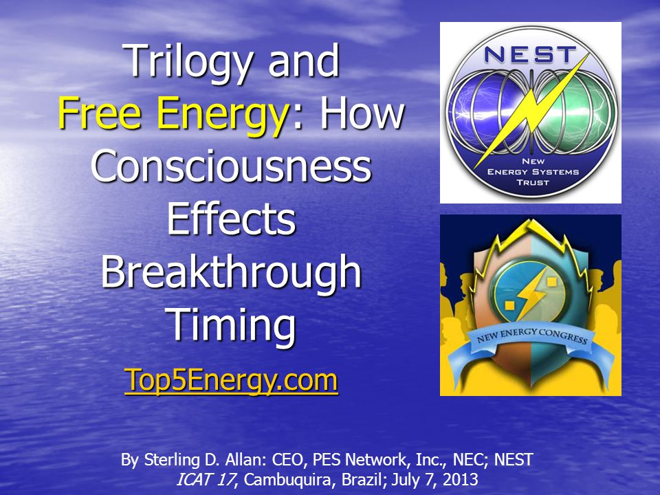 Top 5 Exotic Free Energy Technologies (And Runners Up) http://PESWiki.comSterling D.